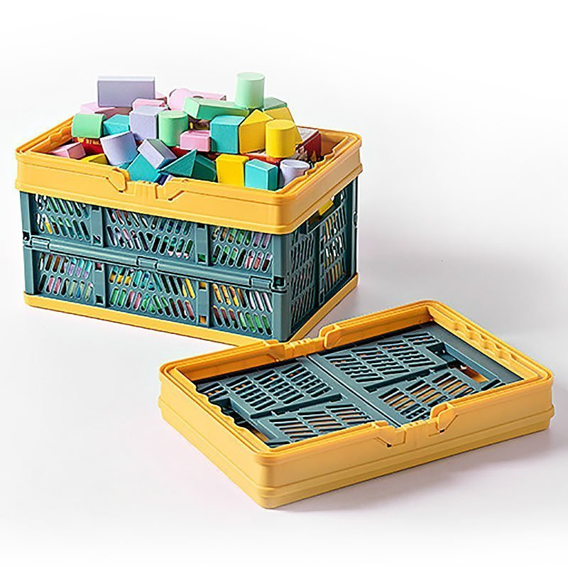 crate collapsible storage bin container utility basket toys storage organisation